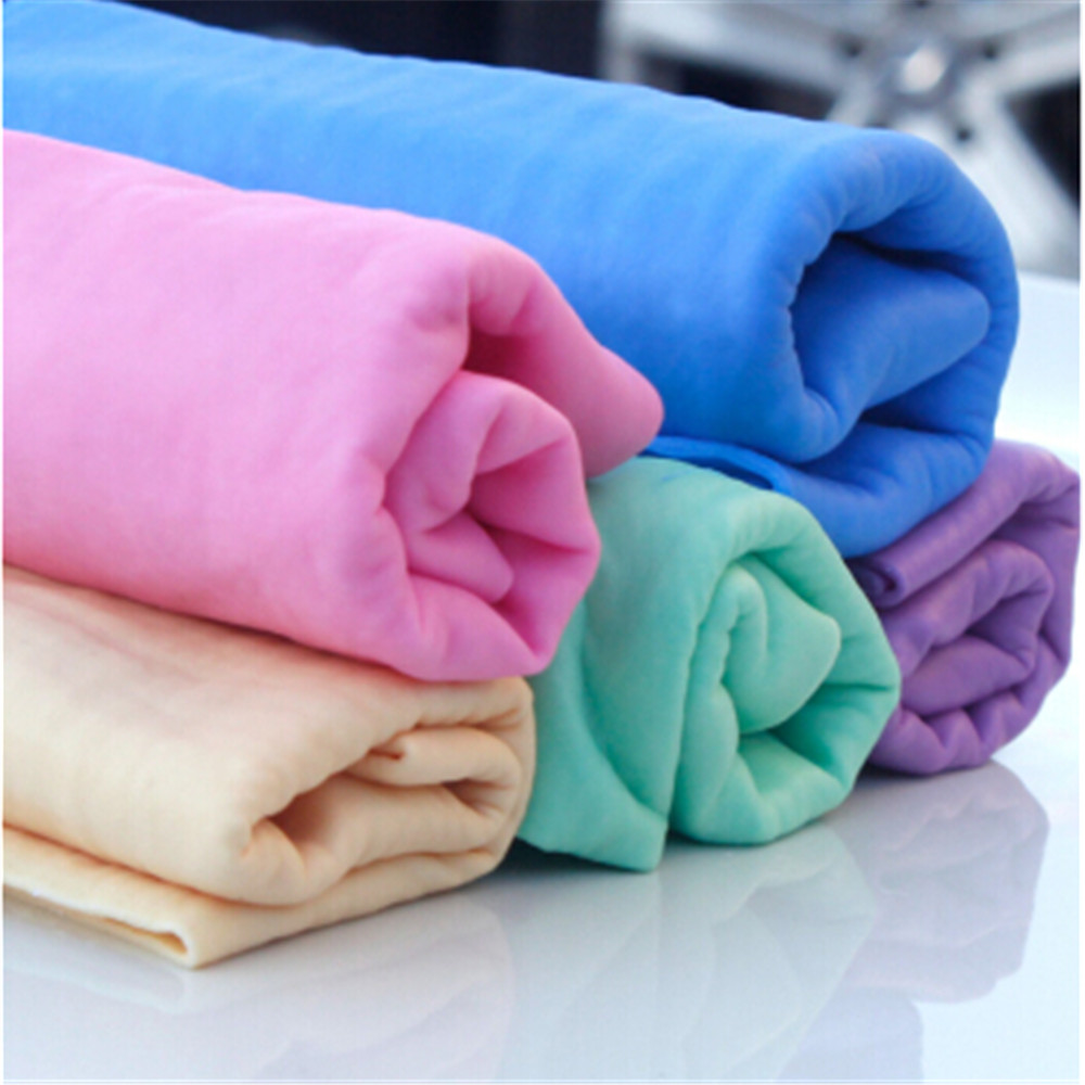 Hot 68 * 43 * 0.2cm Microfiber No trace Imitation buckskin car cleaning towel car care car wash Absorbent Dry Hair in Russia(China (Mainland))