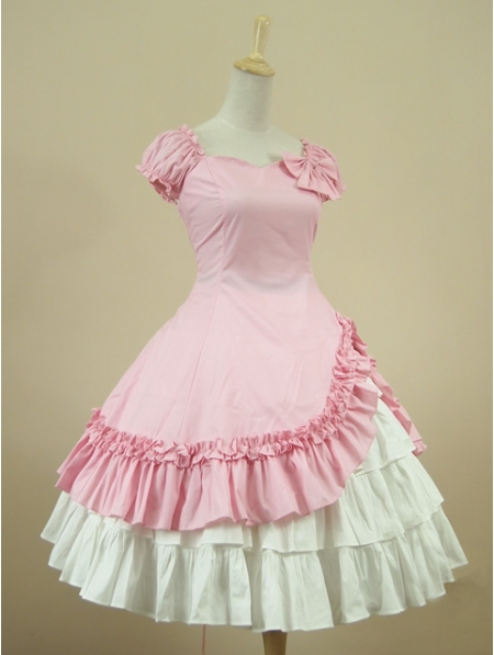 Pink Short Sleeves Classic Sweet Lolita DressОдежда и ак�е��уары<br><br><br>Aliexpress