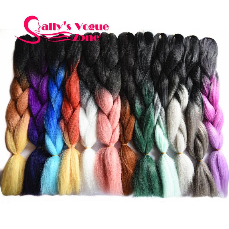 Ombre Synthetic Braiding Hair Kanekalon Mambo Twist Synthetic Hair Extension Jumbo Braids Bulk Hair Braiding(China (Mainland))