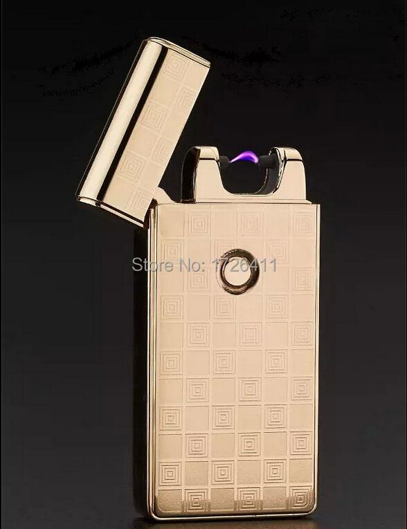 ถูก โปรโมชั่นมีชีพจรArcโลหะสร้างสรรค์เบาชาร์จUSBไฟแช็บุหรี่จัดส่งฟรี