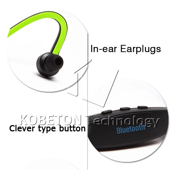 2015 Hot Sale Universal Sport Stereo Handsfree Wireless Bluetooth Headset Earphone Headphone Micro Music Player for all phones