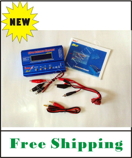 FREE SHIPPING high quality and inexpensive IMax B6 Digital LCD Lipo NiMh battery Balance Charger