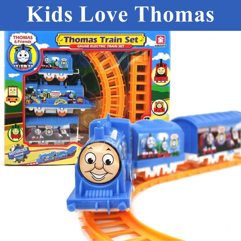 Analog electric rail toy train Thomas train baby children's toy car model/gift/the electric rail toy train/Toys wholesale(China (Mainland))