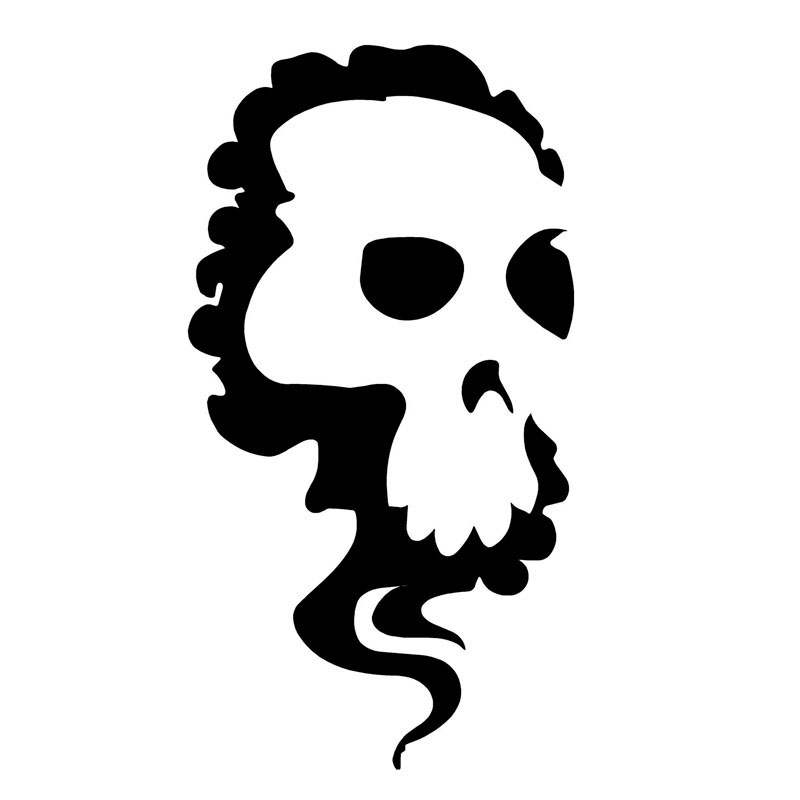 7.2*14CM Cartoon Skull Car Stickers Motorcycle Decals Decorative Stickers Funny Car Styling C2-0383(China (Mainland))