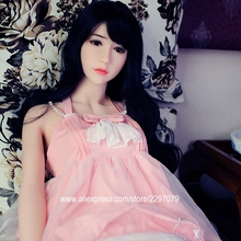 Buy New 153cm real silicone sex dolls men metal skeleton small breast white natural tan skin Japan Asian head vagina anal oral