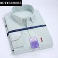 BUTTERMERE Brand Clothing Mens Slim Striped Shirt Long Sleeve Spring New Design Oxford Shirts Social Wedding