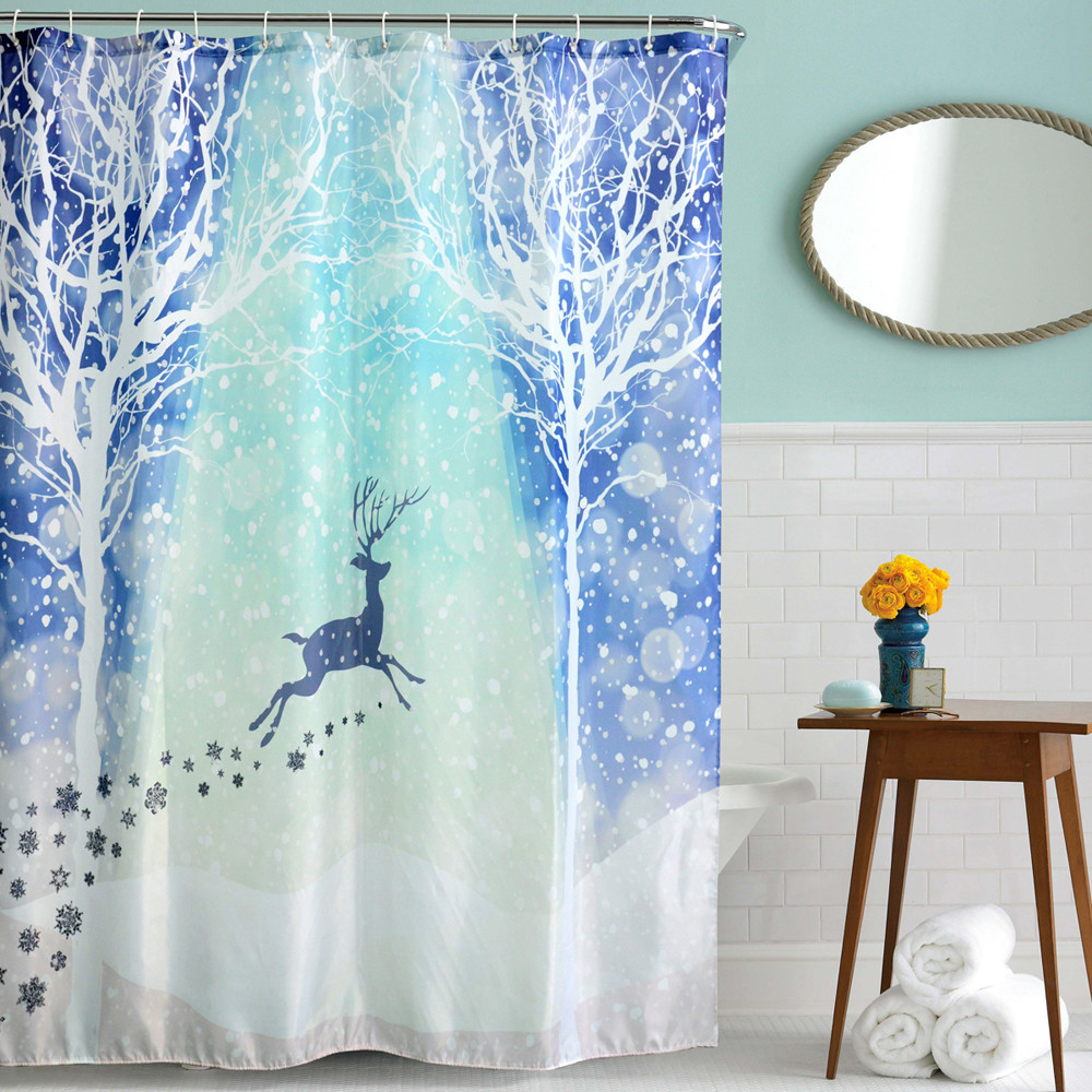 Christmas shower curtains on ebay - Christmas shower curtain hooks halloween shower curtain hooks new arrival high quality on hot selling