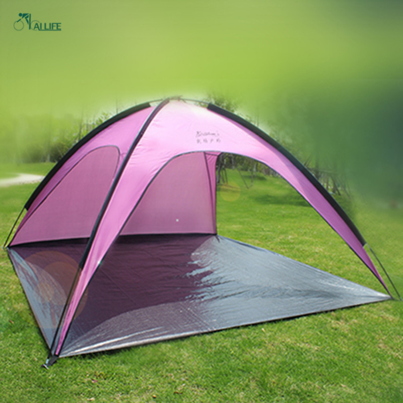 High Quality New 2016 Fishing Tents Outdoor Beach Shade Waterproof Fiberglass Rod Monolayer Camping Tents