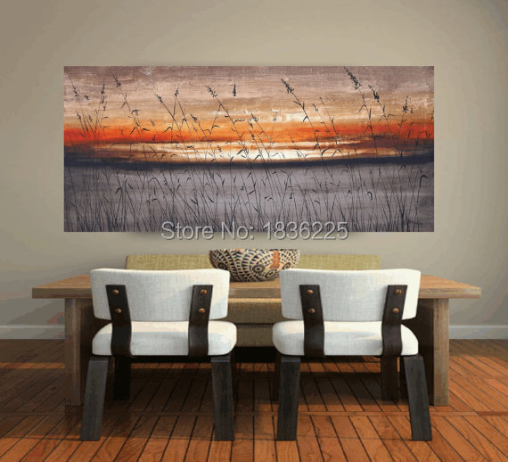 wall sticker canvas oil painting landscape sunset oil