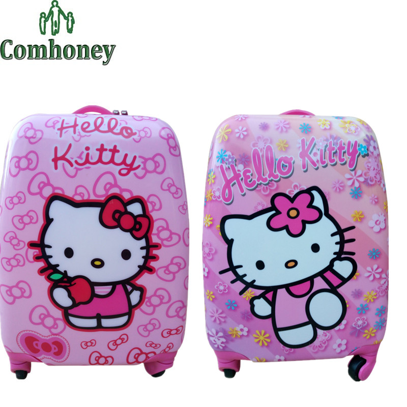 "18"" inch Kids Suitcase Hello Kitty Minnie Mouse Children Luggage for Girls Princess Trolley Luggage Bag for Travel Kids Suitcase(China (Mainland))"