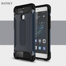 Buy Huawei P9 Case Silicone Shockproof Slim Hard Tough Rubber Dual Layer Armor Cases Phone Cover Huawei Ascend P9 #< for $2.88 in AliExpress store