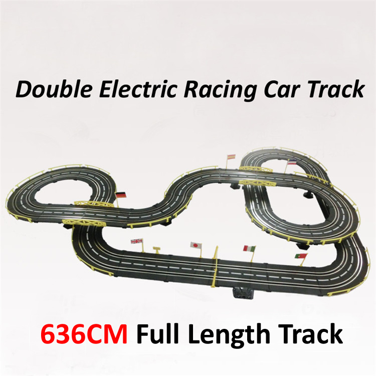 Electric slot car track racing 1:43 scale 636cm rail ...