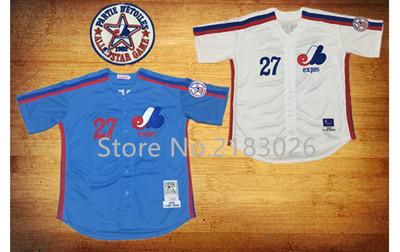 8 Gary Carter 10 Andre Dawson, 1982 Montreal Expos Throwback Jersey Blue White, Stitched Custom Personalized Baseball Jerseys(China (Mainland))
