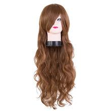 Peluca púrpura Fei-Show fibra sintética resistente al calor Color lila carnaval Peruca Cos-play Pelo Rizado largo femenino salón de pelo(China)