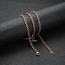 Vnox 585 Hoa Hồng Vàng Kiềm Chế Ốc Xốp Bé Liên Kết Chuỗi Dây Chuyền dành cho Nữ Choker Cổ Quà Tặng Bộ Trang Sức(China)