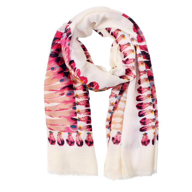 2016 новое поступление зима мода женщин высокое качество ретро богемия индиана национальные ветер перо саржевого хлопка шарф большие шали