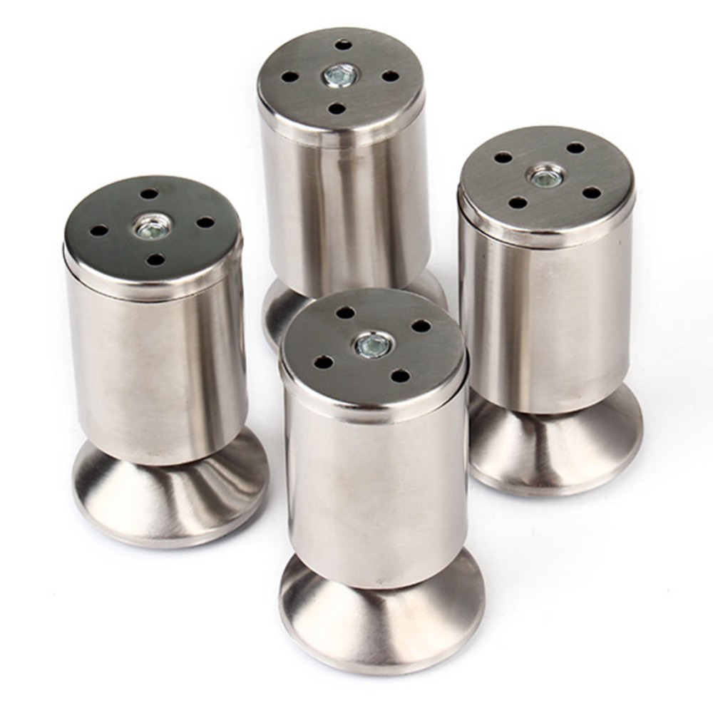 4pcs/pack Stainless Steel Modern Sofa Legs Furniture Adjustable Feet Height Kitchen Leg Silver(China (Mainland))