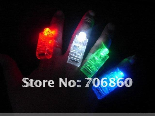 LED Bright Finger Ring Lights Super Popular Gift Party Glow With Blister Card Package 5pack(20pcs)/lot