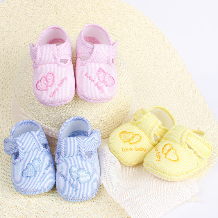 2016 New Cotton Lovely Baby Girls Boys Shoes Toddler Unisex Soft Sole Skid-proof 0-12 Months Kids infant Shoe 3 Colors(China (Mainland))