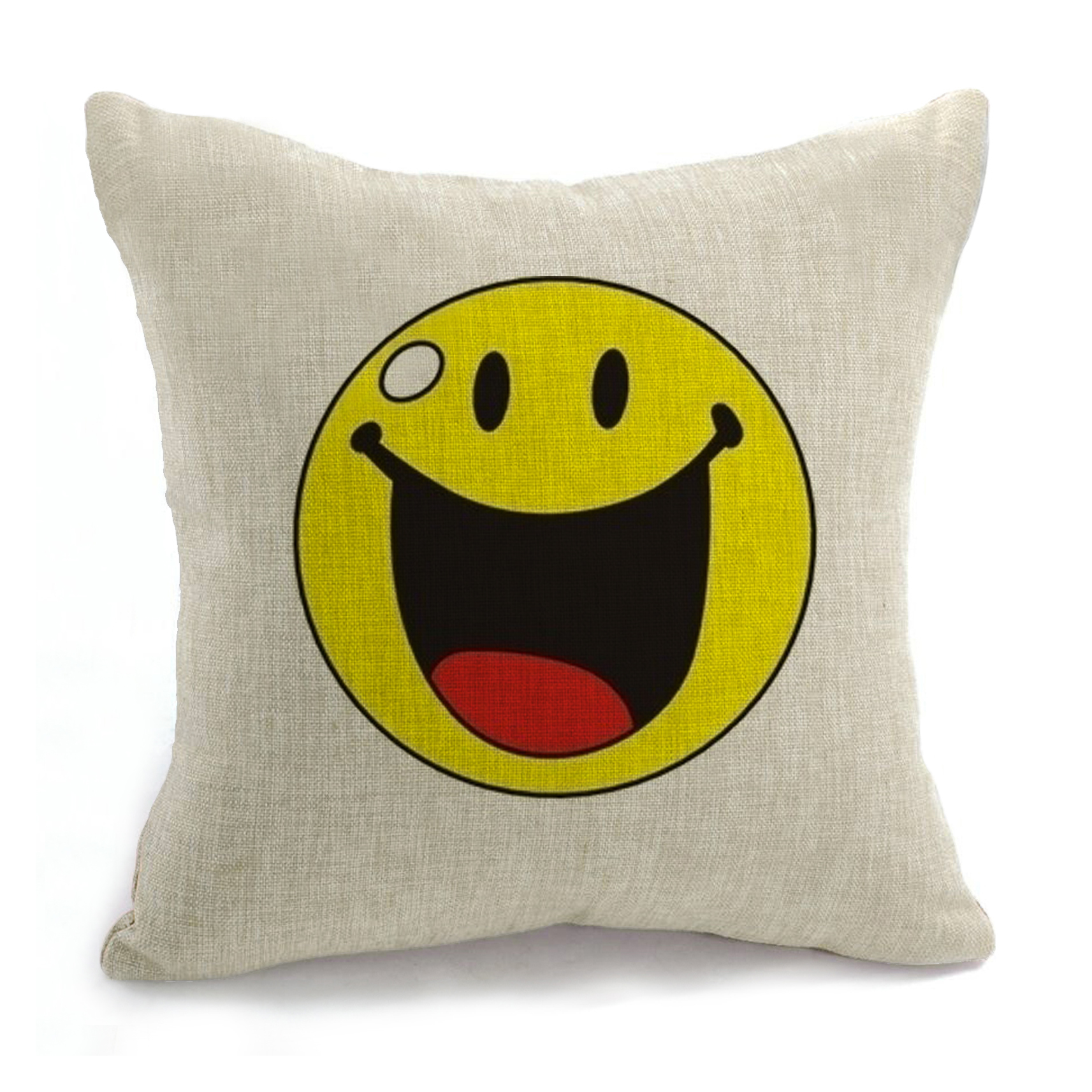 Scandinavian Smiley Coussin 18 X 18 Smile Decorative Emoji Pillow Living Room Sofa Cushion Cuscini Cojines Decorativos Almofadas