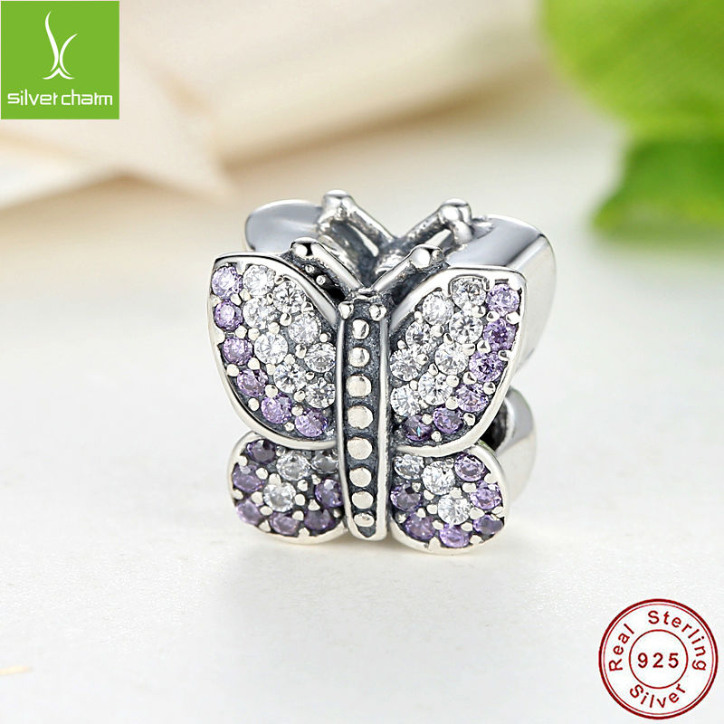 European 925 Sterling Silver Sparkling Butterfly Original Charm Fit Pandora Bracelet Pendants Authentic DIY identical Jewelry(China (Mainland))
