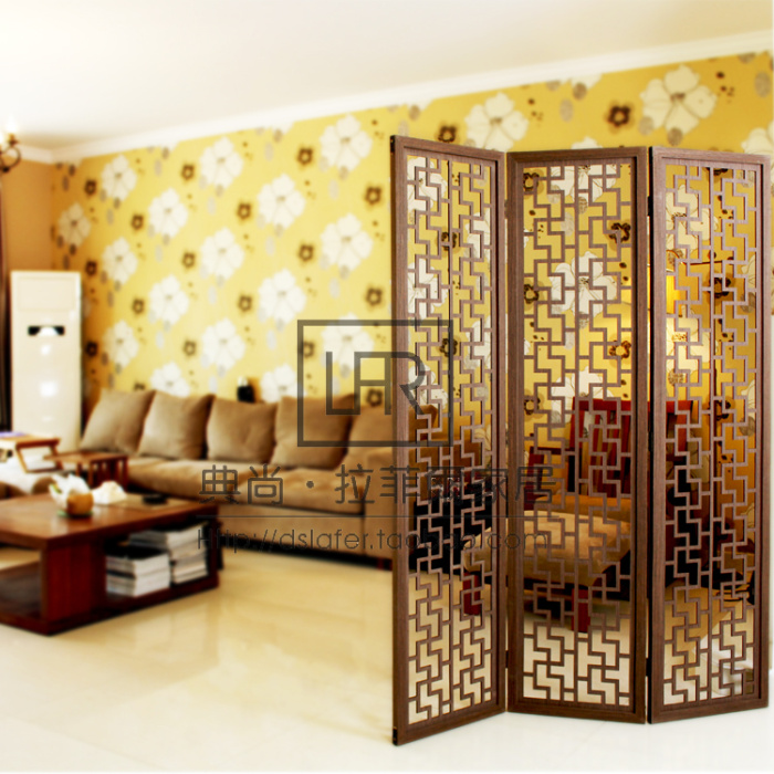Modern brief household wooden screen chinese style vintage partition walls cutout wool off - Readymade partition walls ...