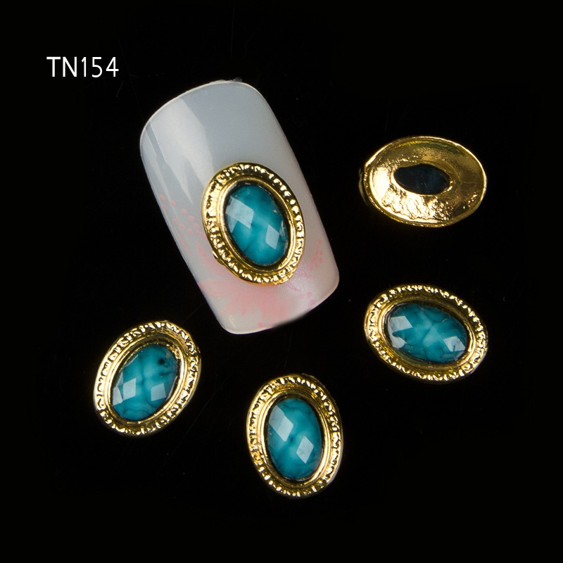 10pcs 3D Nail Art Decorations Alloy Gem Jewelry Rhinestones Decoration For Nails Art Studs Nail Tools<br><br>Aliexpress