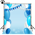 Allenjoy Photographic background balloon flag blue write baby backdrops for sale photography backdrops fotografia