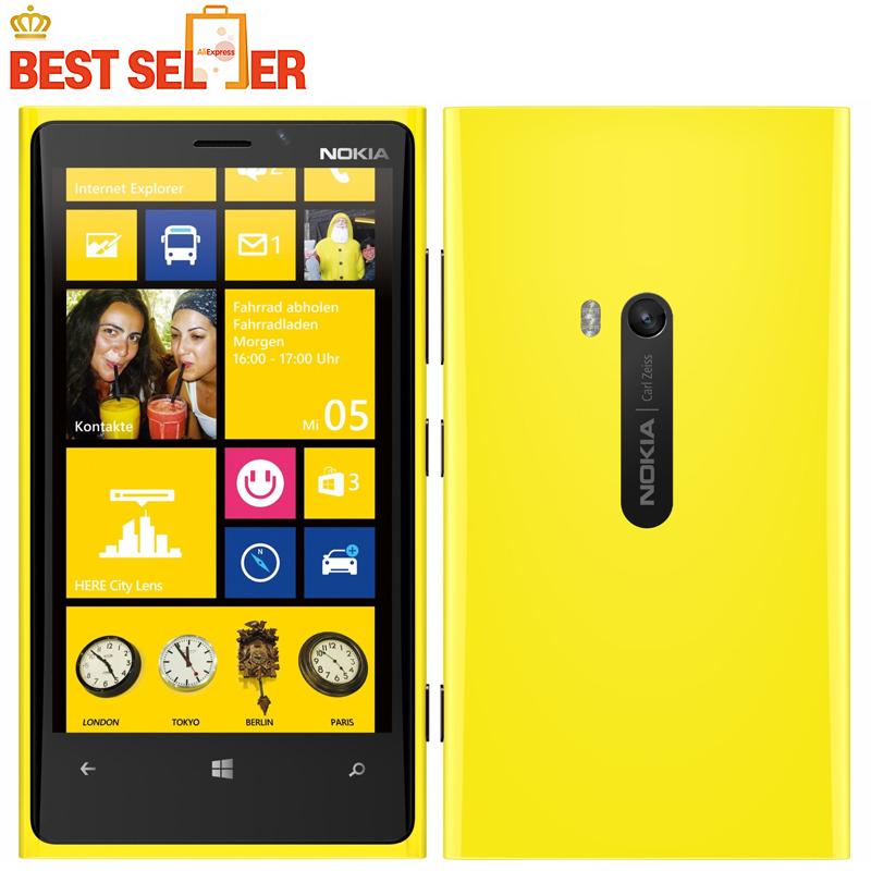 Original Phone Nokia Lumia 920 4.5'' Touch Wifi NFC Gps 3GB 4G 32GB Storage 8MP Camera Unlocked Windows Cell phone Free Shipping(China (Mainland))