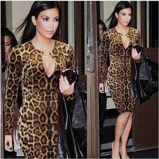 Brown Pencil Dress Pencil Dress Leopard Print