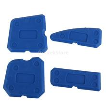 Caulking Tool Kit Joint Sealant Silicone Grout Remover Scraper 4PCS Blue(China (Mainland))