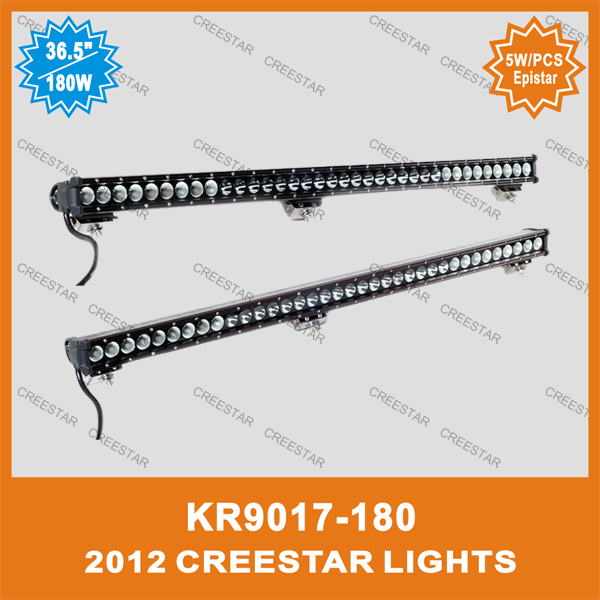 180w led offroad light bar KR9017-180 37INCH LED OFF-ROAD BAR LIGHTS used for truck jeep suv atv 1row led truck bar lights(China (Mainland))