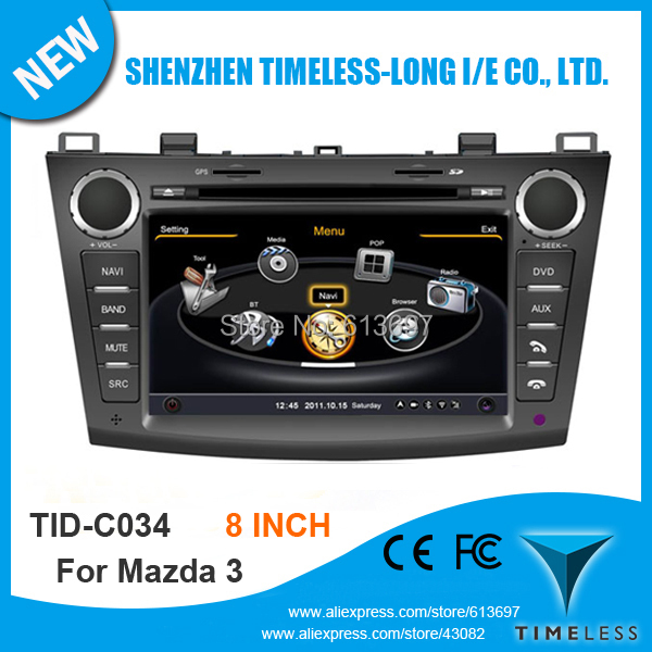 Car DVD GPS Navigation 2Din Car Stereo Radio Car GPS For Mazda 3 2010-2012 With A8 Chipset 3G Wifi BT 20 Dics Playing Free Map(China (Mainland))