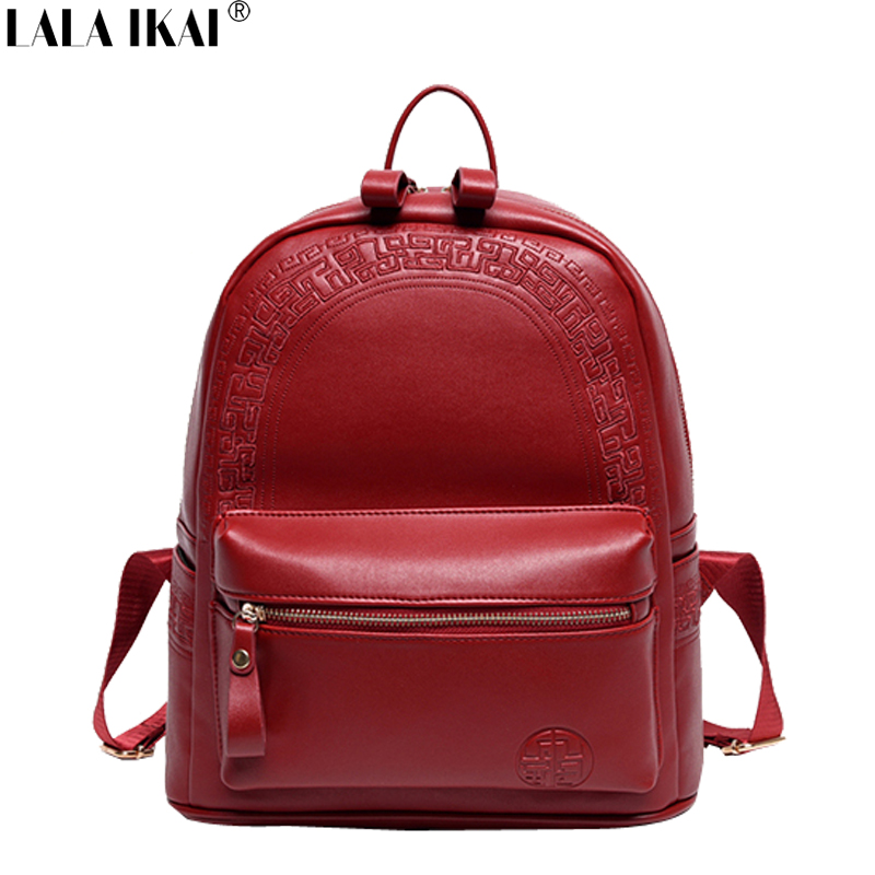 Hot Sale National Backpacks for Women Leather Shoulders Bags Embroidery Backpack Fashion School Bags for Girls BWE0214-4.5 <br><br>Aliexpress