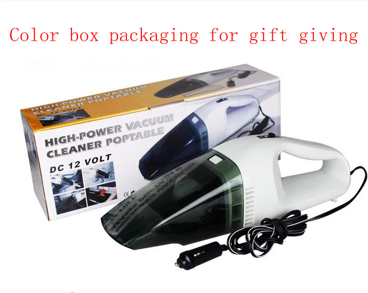 2013 Neonatal mini portable handheld power car vacuum cleaner dust collector black and white dry/wet office 60 w 12 v