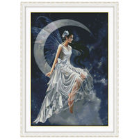 Wholesale Needlework,Stitch,11CT 14CT Cross Stitch,Sets For Embroidery Kits,The moon fairy (1) Counted Cross-Stitching
