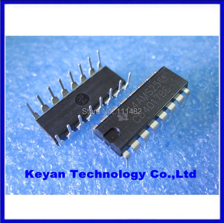 Envío gratis 10 unids, CD4017 CD4017B CD4017BE 4017 decimal contador divisor IC(China (Mainland))