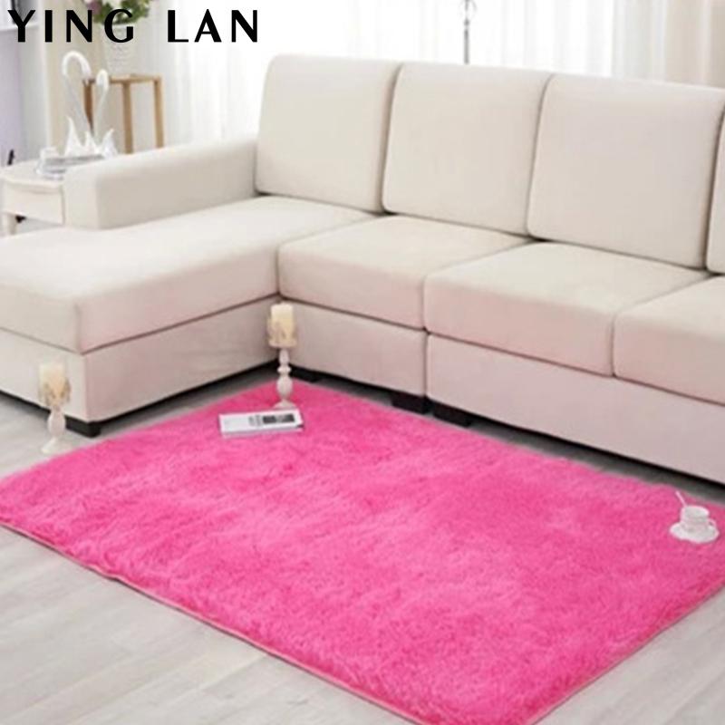 New fashion flokati shaggy seatmat carpet beige rug anti for Soft carpet for bedrooms