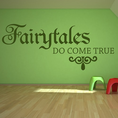 Do Wall Decal Stickers Come Off : Buy Fairytales Do Come True Vinyl Wall  Sticker Childrens Part 41