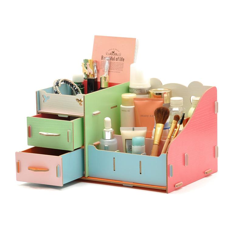 High Quality Desktop Wood Storage Box Fashion Desk
