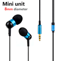 Original JBM A8 Mini In ear Stereo Earphones With Music Metal Earphone For Phone Mp3 MP4