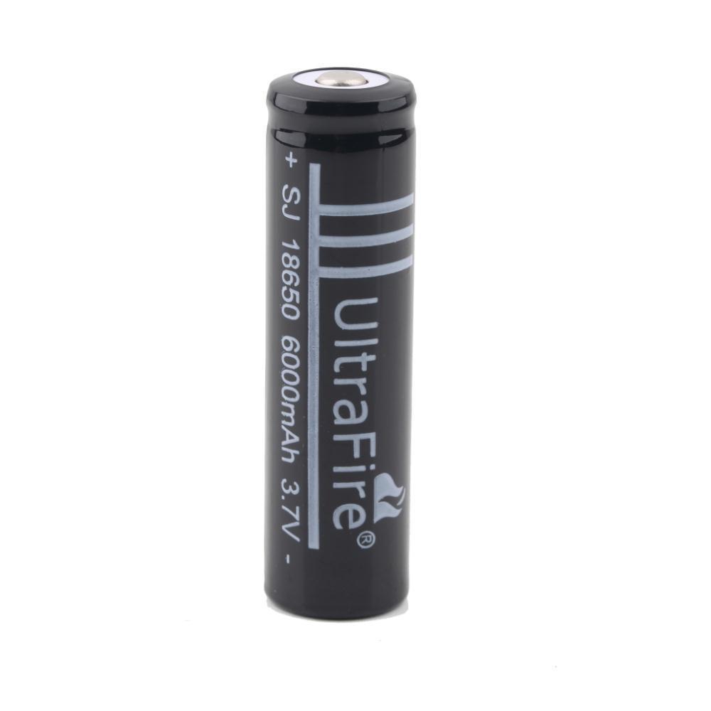 10X Pcs 3 7V 18650 battery 6000mAh Li ion Rechargeable Battery for Flashlight Hot New 3