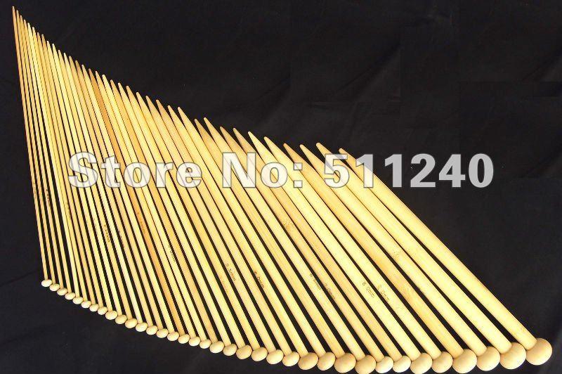 "Cheap 36Pcs Needles Set 18 sizes 10"" Single Point Bamboo Knitting Needles Free shipping US0-15(China (Mainland))"