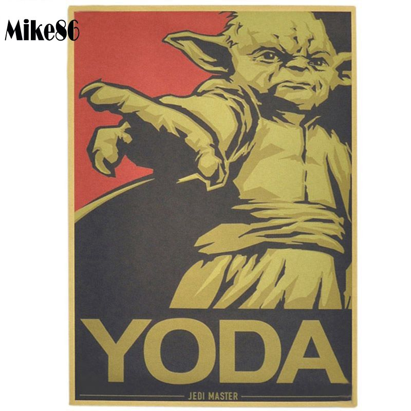 [ Mike86 ] Vintage YODA Movie Poster Retro Painting art Wall home Bar Party Decoration 30X42 CM BM-63(China (Mainland))