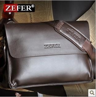 The new 2015 ZEFER male bag shoulder bag han edition men's briefcase real cowhide bag, leisure bag free postage