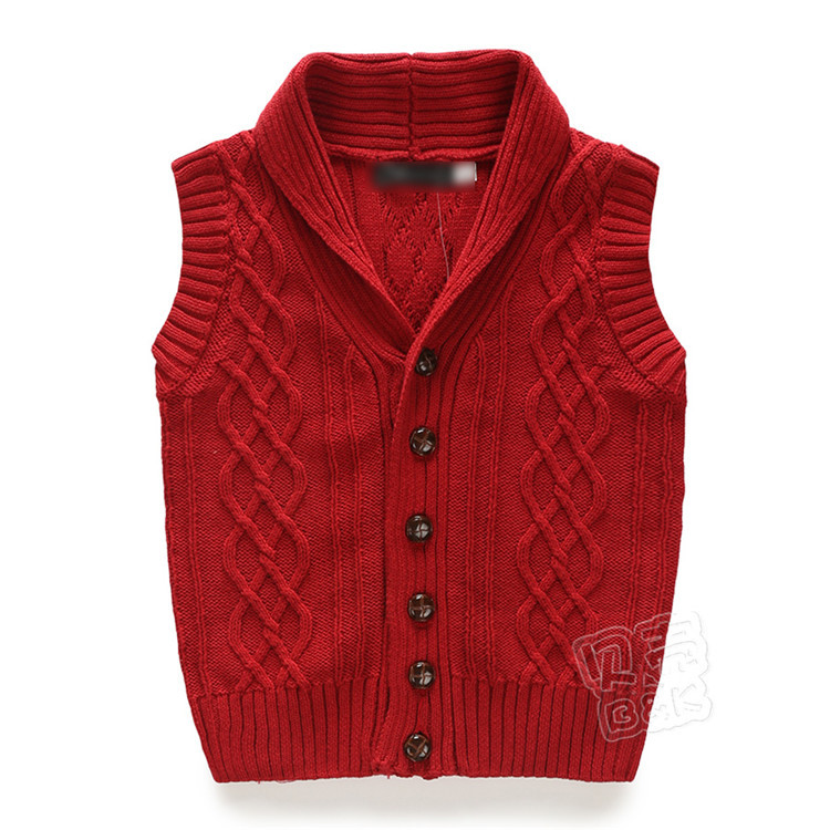 2015 spring and autumn new style baby boys sleeveless sweaters little boys fashion wool vest boys coats A2292(China (Mainland))
