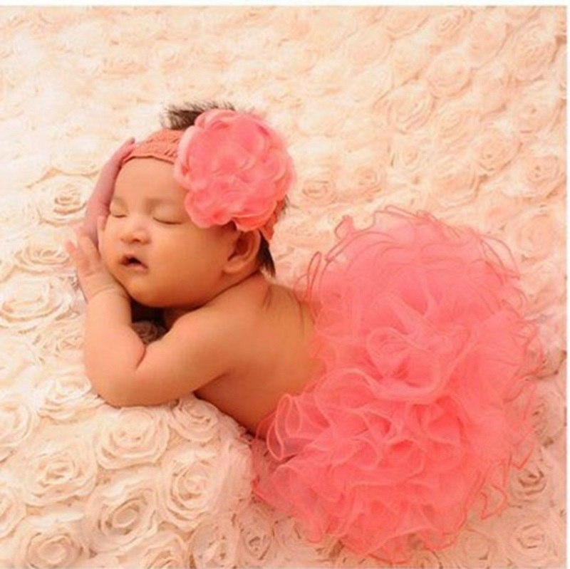 Гаджет  Baby ball growm Newborn tutu skirt Kids photography props New watermelon red infantile clothing with headband Hairband set HB413 None Детские товары