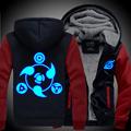 New winter coats NARUTO hoodie jackets light Anime Hooded Zipper men thick cardigan Sharingan