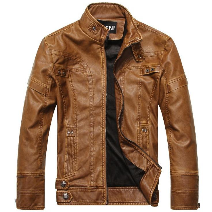 Motorcycle leather jackets men Brand Jaqueta Couro Masculino Bomber men's leather jacket jaqueta de couro masculina