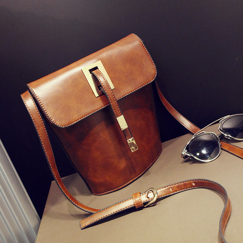 New Arrival Vintage women Shoulder Bag Simple Bucket Bag Small Women Messenger Bag Crossbody Bags(China (Mainland))